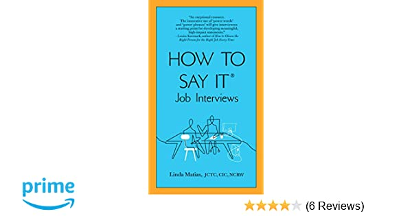 what to say in a job interview