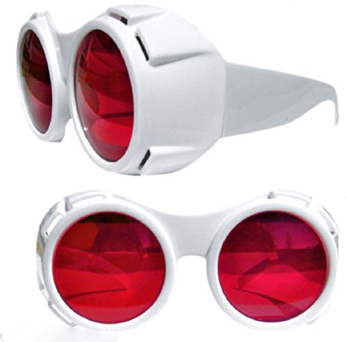 Willy Wonka TV ROOM Style GOGGLES GLASSES Chocolate Factory Hyper Vision Depp - Willy Wonka White Glasses