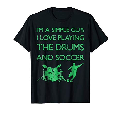 - Soccer Football Drummer Percussion T-Shirt Present