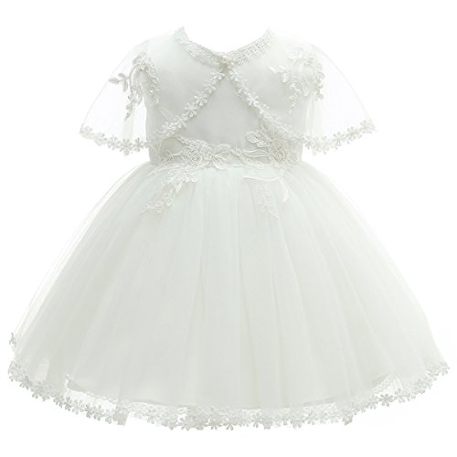 AHAHA Baptism Dresses for Baby Girls 3PCS Christening Dresses