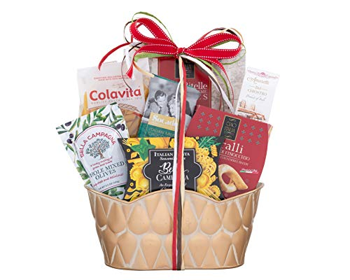 Wine Country Gift Baskets Taste Of Italy Gift Basket Italian Pasta Seasonings Cookies & Sweets Inside Reusable Tin for Keepsakes! Italian Dinner Ready to Be Made All In One Gift!
