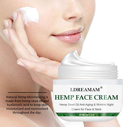 4185Ycvu9AL - Hemp Cream, Face moisturizer Cream, Anti-Wrinkle And Fine Lines, Anti-Aging Hemp Oil Day Face And Neck Cream, Collagen Boosting, Relieves Inflammation