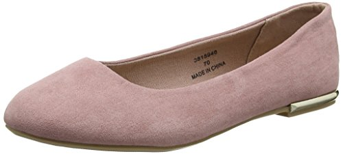 New Look Wide Foot Luna - Zapatillas de ballet Mujer Rosa (Light Pink)