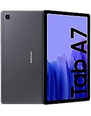 Samsung Galaxy Tab A7 tablet, display 10,4 inch TFT, 64 GB uitbreidbaar tot 1 TB, RAM 3 GB, batterij 7040 mAh, WLAN, Android 11, camera achter 8 MP, donkergrijs [Italiaanse versie]