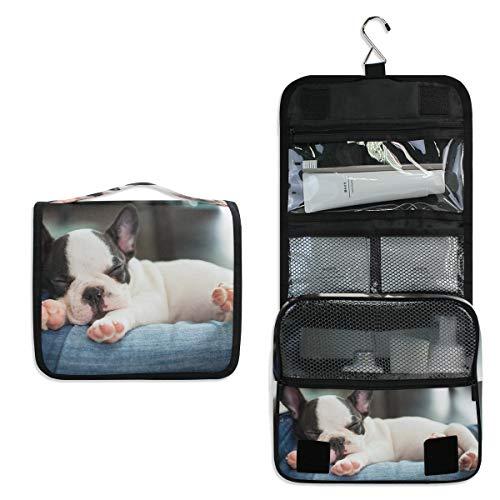 JOYPRINT Hanging Toiletry Bag French Bulldog Animal Cute, Makeup Bag Cosmetic Bag Bathroom Travel Organizer Large for Women Girls