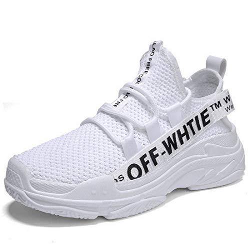 微妙差別的縞模様のスニーカー男性カジュアル通気性ランニングシューズ軽量摩耗シングル男性靴