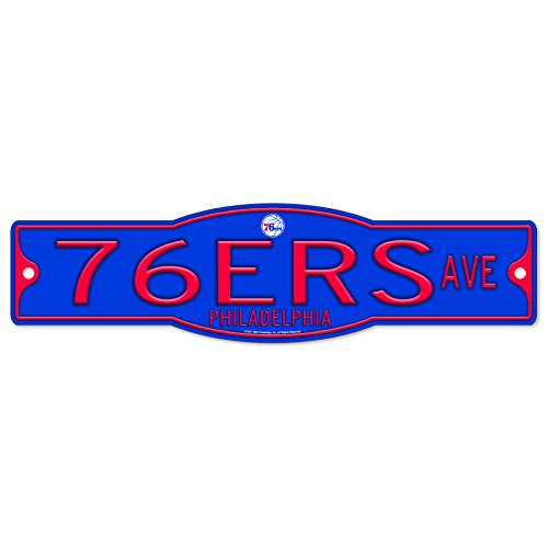 Philadelphia 76ers NBA Basketball Plastic 4 x 17 Street Sign by WinCraft