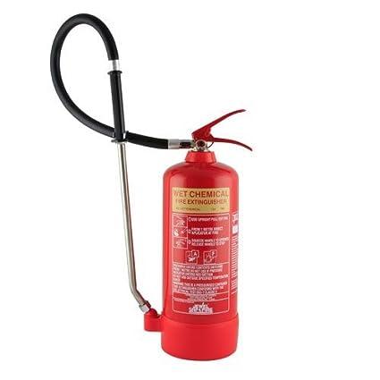 6 litros químico húmedo extintor - clase F para uso en freidora de fuegos