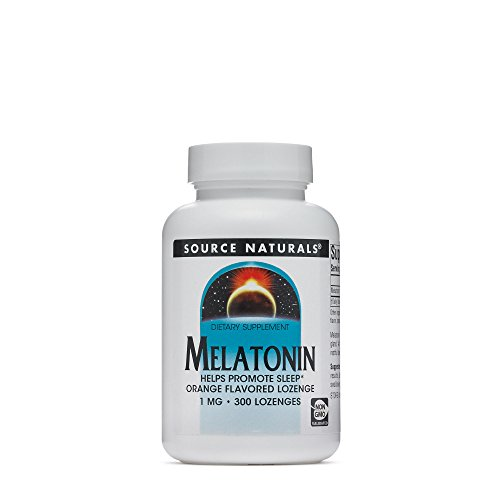- Souce Naturals Sleep Science Melatonin 1mg Orange Flavor Promotes Restful Sleep and Relaxation -Supports Natural Sleep/Wake Patterns and Rhythms 300 Lozenges