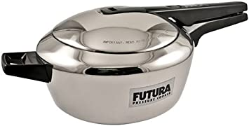Hawkins Futura Stainless Steel Pressure Cooker, 4.0 Litre Pressure Cookers at amazon