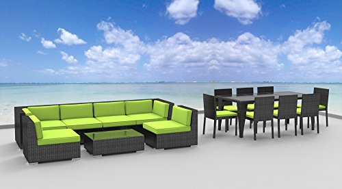 Urban Furnishing.net - 16 Piece Outdoor Dining and Sofa Sectional Patio Furniture Set