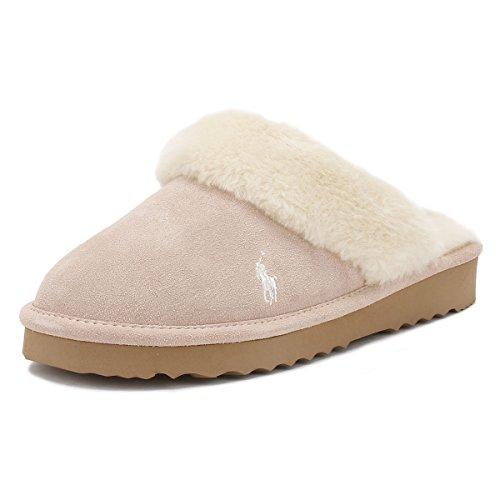 Ralph Lauren Womens Light Pink / Cream Charlotte Slippers u10pVws4c