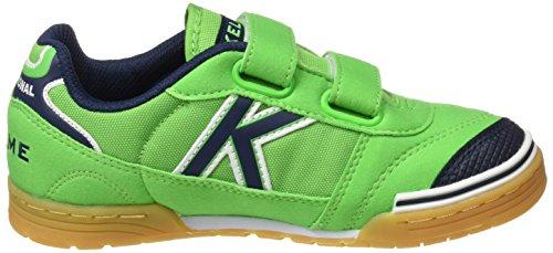 Kelme Trueno Kids V, Zapatillas de Fútbol Sala Unisex Niños, Verde (Verde Eléctrico), 35 EU