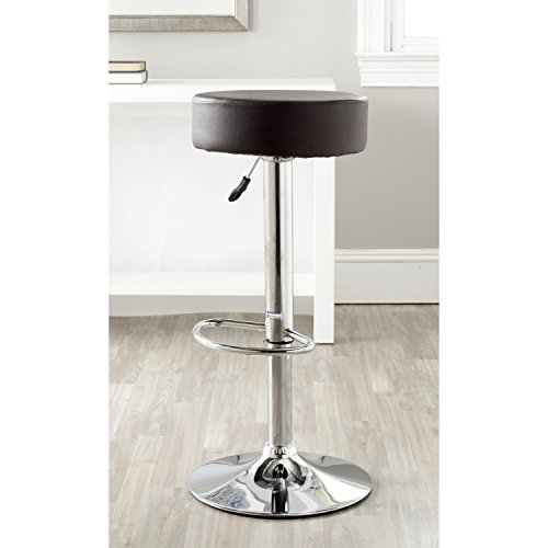 Cheap Safavieh Home Collection Jude Brown Adjustable Swivel Gas Lift 25.6-31.5-inch Bar Stool