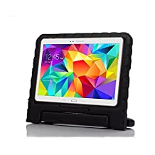 Samsung Galaxy Tab S 10.5 Kids Case - Lumcrissy Light Weight EVA Shock Proof Kids Super Protection Cover Handle Stand Kids Friendly for Samsung Tab S 10.5-Inch Tablet SM-T800 / SM-T805 /SM-T807 (Black)