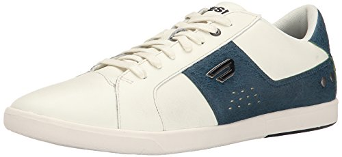 Diesel Mens Gotcha Fashion Sneaker White/Dark Green yuaZnibm1