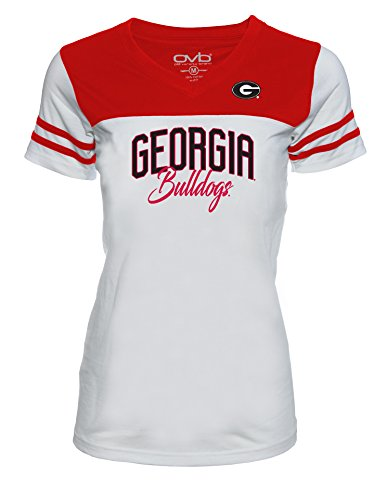 Old Varsity Brand NCAA Georgia Bulldogs Juniors Plus Football Tee, 1X, White/Red