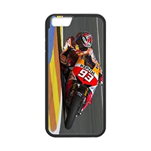 Back Skin Case Shell iPhone 6s Plus 5.5 Inch Cell Phone Case Black Marc Marquez Kmtmm Pattern Hard Case Cover
