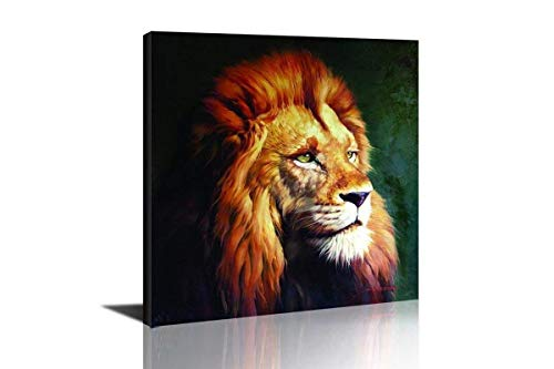 HLJ Lion Wall Decor Artwork for Living Room Decor and Modern Abstract Animal Head Portrait Oil Painting ()