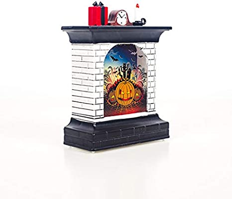 Halloween Decorations Props Fireplace LED Light Party Decor Outdoor Indoor