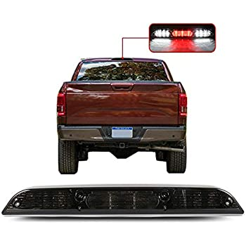 OCPTY High Mount Brake Light LED 3rd Light Red Lens Rear Roof Light Replacement fit for 2002-2012 Chevrolet Avalanche