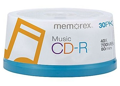 Memorex 120 40X Digital Audio Music CD-R 80min 700MB (Logo on Top)