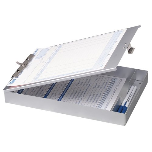 OfficemateOIC Aluminum Forms Storage Clipboard, 8.5 x 12 Inch (83200)