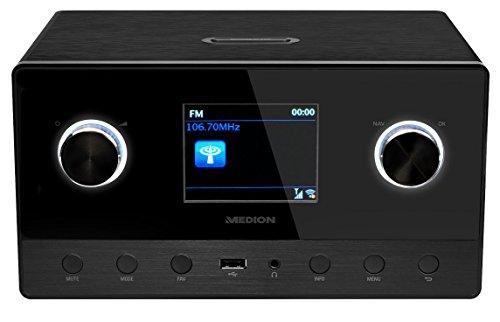 MEDION LIFE P85111 MD 87295 WiFi Internet Radio mit 2.1 Soundsystem, Multiroom, DAB+, UKW Empfänger, DLNA, schwarz