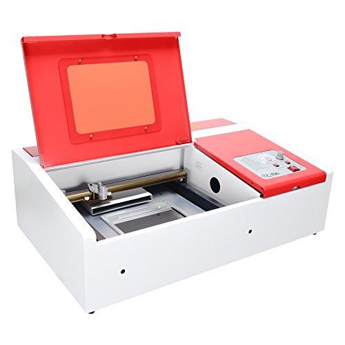 (Orion Motor Tech 40W Co2 Laser Engraving Cutting Machine, 12 x 8 Inches K40 Desktop DIY Wood Laser Engraver Cutter (Red))
