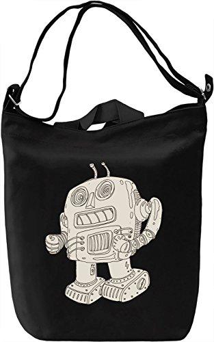 Robot Borsa Giornaliera Canvas Canvas Day Bag  100% Premium Cotton Canvas  DTG Printing 