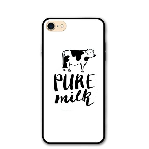 Trendy Dust Proof Cute Pure Milk Cow Design Healthy Iphone8 Case