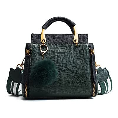 durable service Women Bags All Season PU Shoulder Bag Buttons Feathers / Fur for Formal Office & Career Black Brown Army Green