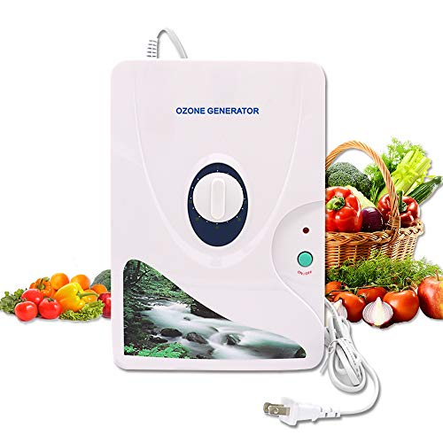 Ozone Generator Air Purifier o3 Disinfector with Setting Timer Function, Multipurpose Air Sterilizing and Freshening, Ozone Machine for Water, Fruit, Vegetable, Home and Office Using