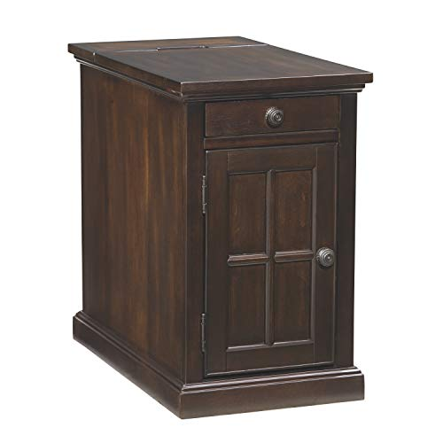 Ashley Furniture Signature Design - Laflorn Chair Side End Table - Rectangular - Dark Brown ()