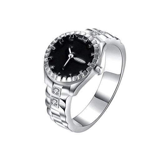 Clearance ! Vanvler Fashion Women Mens Dial Quartz Analog Watch Creative Steel Cool Alloy Finger Ring (9, ()