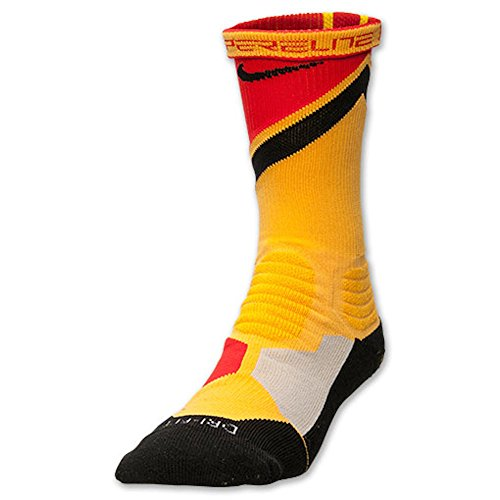 Nike Men's Hyper Elite World Tour Espana Socks Large (8-12) Gold Red