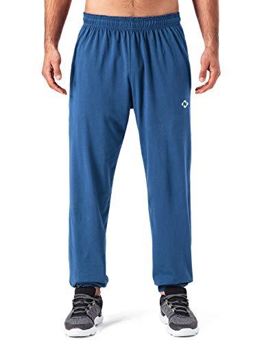 - NAVISKIN Men's Light Weight Running Workout Pants Closed Bottom Jersey Sweatpant Blue Size XL
