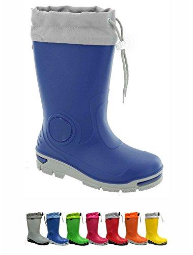 Krexus Kinder Gummistiefel Regenstiefel Modell Glasgow Gr. 21-35 Blau