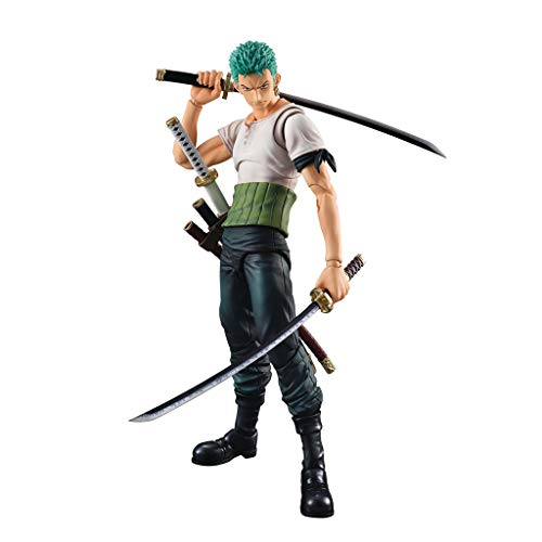 Siyushop Onepiece: Roronoa Zoro Pirate Hunter Zoro Past Blue Variable Action Hero Action Figure - 150mm (Variable Action Heroes Roronoa Zoro Action Figure)