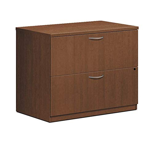 HON LMLATFF Foundation Lateral File 2 Drawers 35-1/2-Inch W x 22-Inch D x 29-Inch H Shaker Cherry