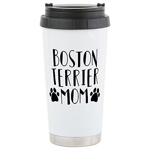 CafePress - Boston Terrier Mo - Stainless Steel Travel Mug, Insulated 16 oz. Coffee Tumbler