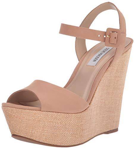 Steve Madden Women's Citrus Wedge Sandal, Camel Nubuck, 8 M - Platform Steve Wedge Madden