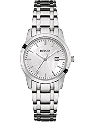 Bulova Ladies Silver Tone Stainless Steel Japanese Quartz Date Watch