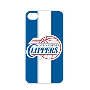 NBA Los Angeles Clippers Logo Case For Iphone 4/4S Cover PC Soft (White)