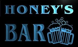 Cartel Luminoso w010746-b HONEY Name Home Bar Pub Beer Mugs Cheers Neon Light Sign