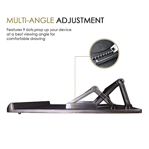 Kenting Light Box Pad Stand, 9-Angle Adjustable Tablet Stand Portable Laptop Stand Rotate in 360 Degree Folding Stand for Tracing pad / Laptop / Tablet / Notebook
