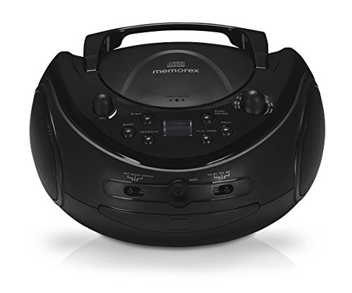 Memorex MP3221 Sport Stereo Portable CD Boombox with AM FM Radio & Universal Line-in Jack for MP3 Players, (Refurbished)