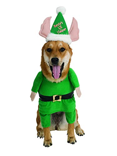 Rubie's Santa's Little Helper Elf Pet Costume, -