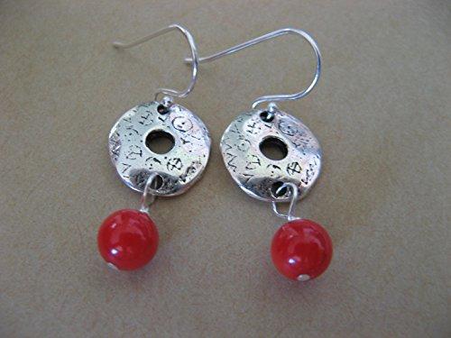 Coral Disc Earrings - 4