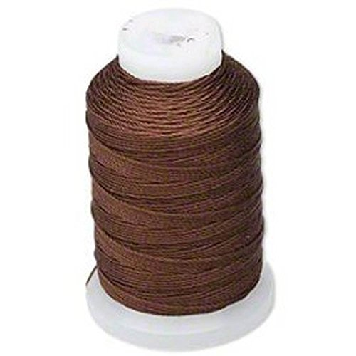 Simply Silk Beading Thread Cord Size FF Chestnut 0.015 Inch 0.38mm Spool 115 Yards for Stringing Weaving Knotting (Silk Thread Sizes)